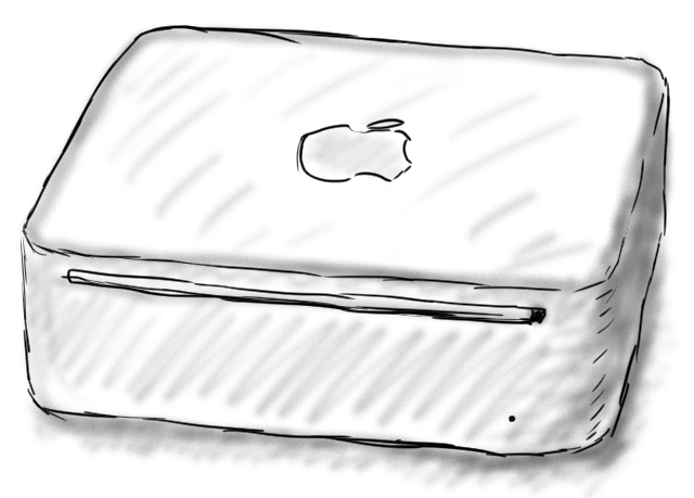 Mac Mini First Gen Sketch