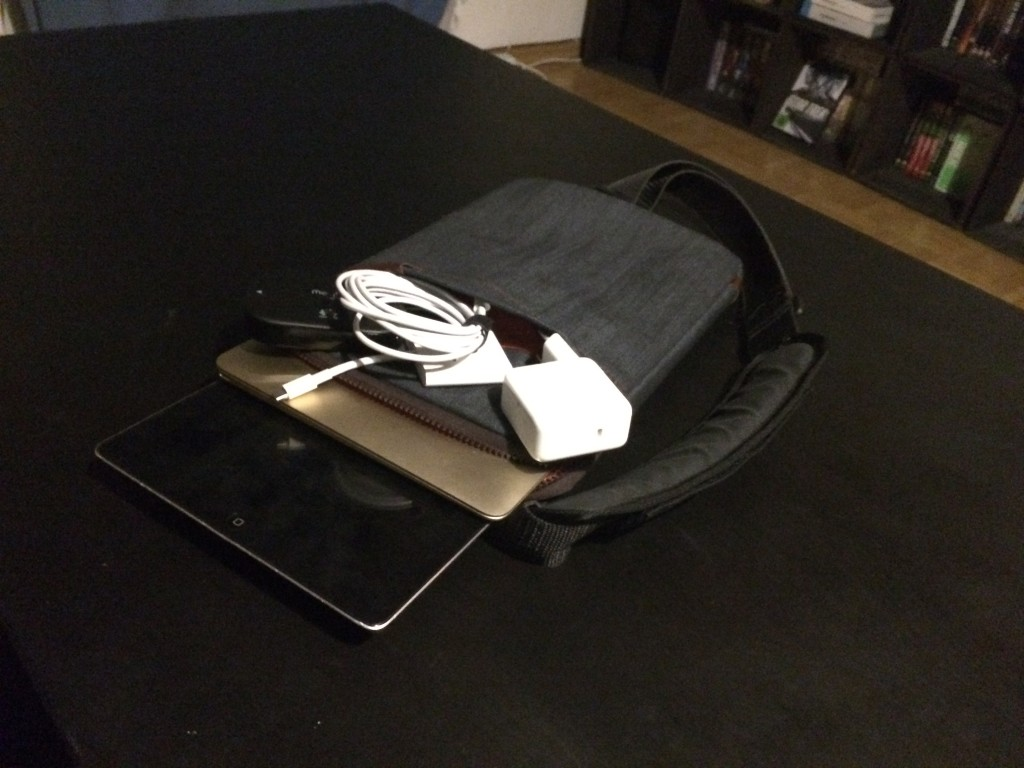 Yes, these things really all fit into this MacBook sleeve.