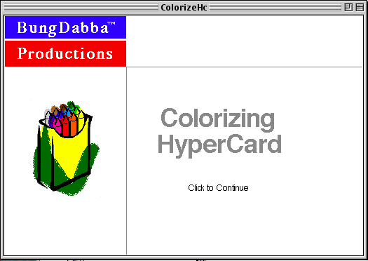 Colorizing HyperCard's de-Claris-ified splash screen