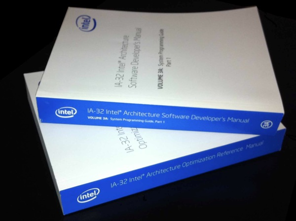 [two of Intel's instruction set manuals]