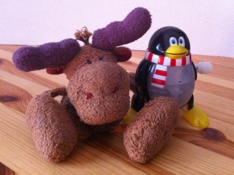 [The Moose being very peaceful and reconciliatory with Tux]