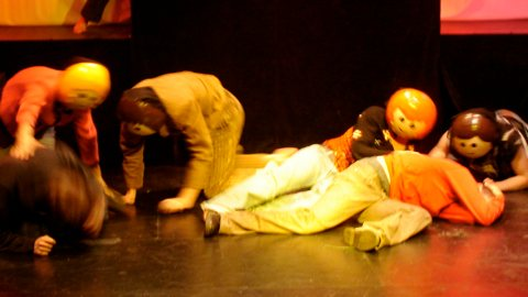 Snapshot from theatre play Herzmuendung