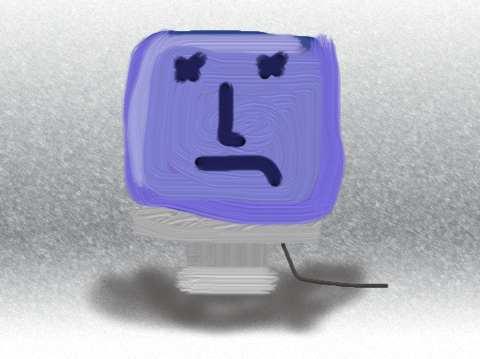 A sad iMac